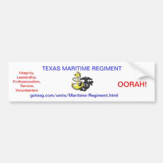 Texas State Guard Car Bumper Sticker