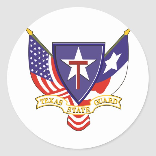 Texas State Guard Classic Round Sticker