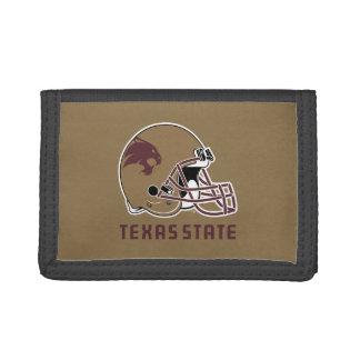 Texas State Helmet Logo Trifold Wallet