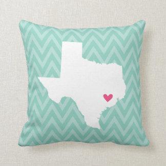 Texas State Love Chevron Throw Pillow