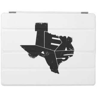 Texas State Map Black Lettering iPad 2/3/4 Cover