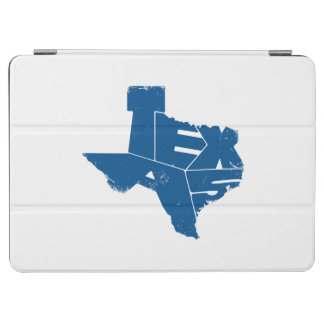 Texas State Map Blue Lettering iPad Air Cover