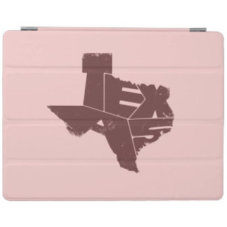 Texas State Map Burgundy Lettering iPad2/3/4 Cover