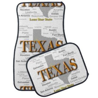 Texas State Map Car Floor Mat