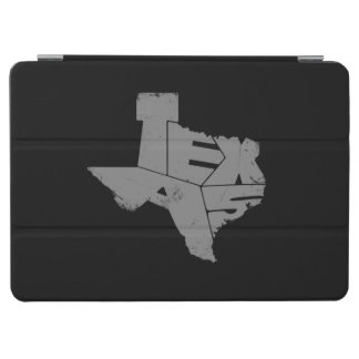 Texas State Map Gray Lettering iPad Air Cover