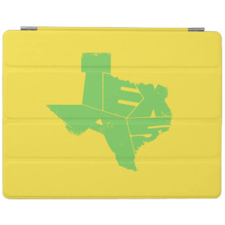 Texas State Map Green Lettering iPad 2/3/4 Cover