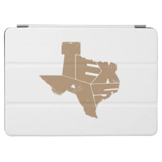 Texas State Map IcedCoffee Lettering iPadAir Cover