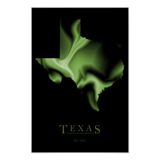Texas State Map Image Poster