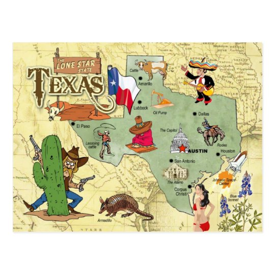 Free Comic Book Day Postcard: Texas State Map Postcard