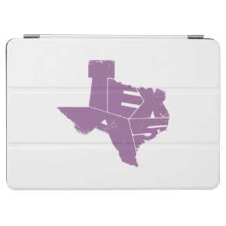 Texas State Map Purple Lettering iPad Air Cover