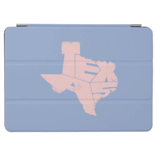 Texas State Map Rose Lettering iPad Air Cover