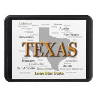 Texas State Map Trailer Hitch Cover
