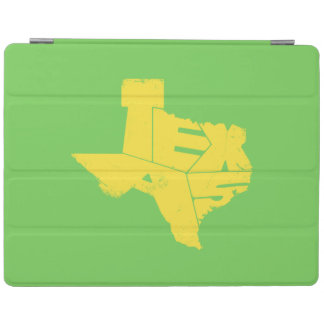Texas State Map Yellow Lettering iPad 2/3/4 Cover