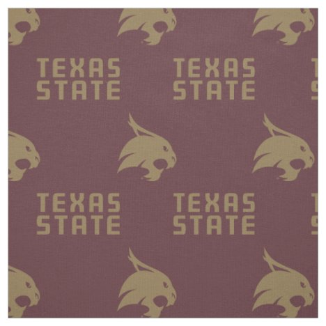 Texas State Maroon Pattern Fabric