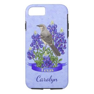 Texas State Mockingbird & Bluebonnet Flower iPhone 8/7 Case