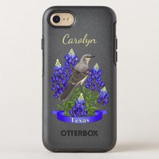 Texas State Mockingbird & Bluebonnet Flower OtterBox Symmetry iPhone 8/7 Case