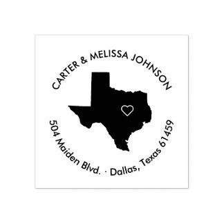 Texas State Moving Announcement Address Stamp