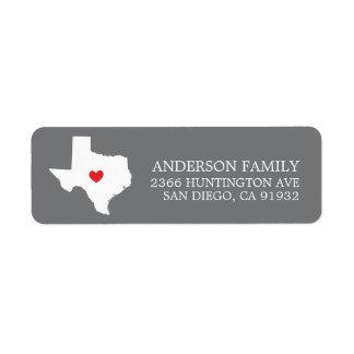 Texas State | New Home Return Address Label