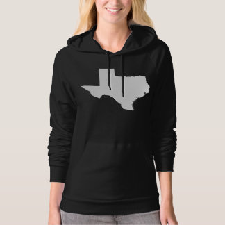 Texas State Outline Hooded Pullover