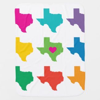 Texas State Pattern Baby Blanket - Bright Colors