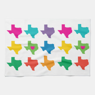 Texas State Pattern Kitchen Towel- Bright Colors Towels