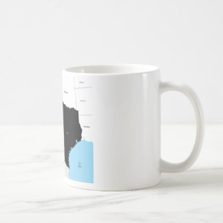 texas state political map shape flag america coffee mug