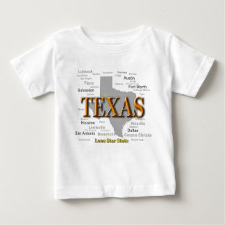 Texas State Pride Map Silhouette Baby T-Shirt