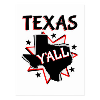 Texas State Pride Y'all Postcard