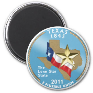 Texas State Quarter 2 Inch Round Magnet