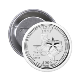 Texas State Quarter 2 Inch Round Button