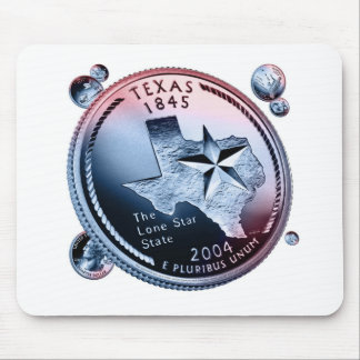 Texas state quarter mouse pad