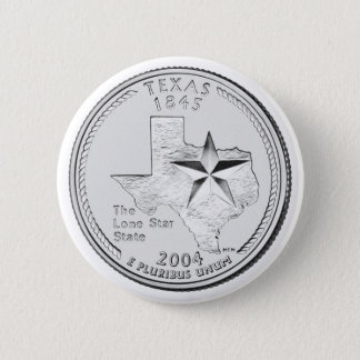Texas State Quarter Pinback Button