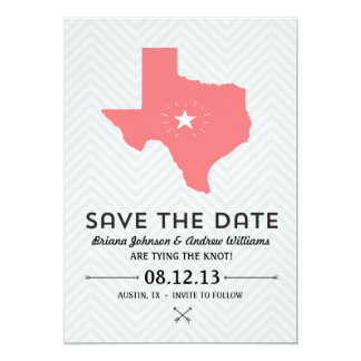 Texas State Save the Date 5x7 Paper Invitation Card