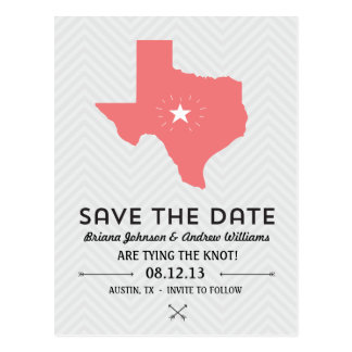 Texas State Save the Date Postcard