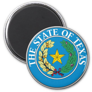 Texas State Seal 2 Inch Round Magnet