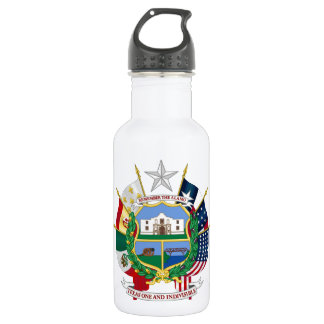 Texas State Seal 2 18oz Water Bottle