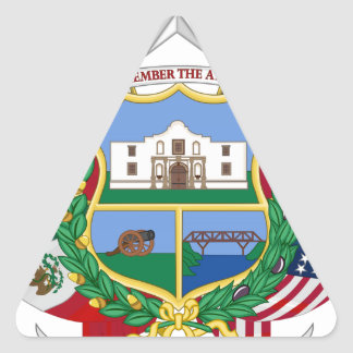 Texas State Seal 2 Triangle Sticker
