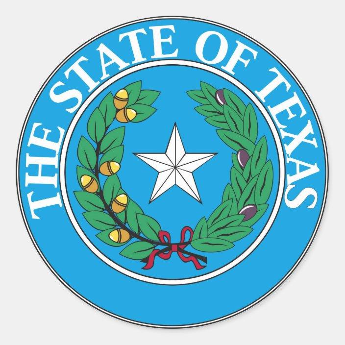 Texas State Seal And Motto Zazzle Com