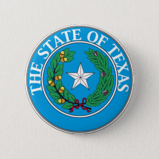Texas State Seal and Motto Pinback Button