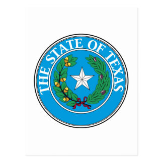 Texas State Seal and Motto Postcard