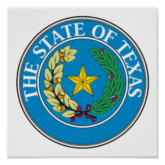 Texas State Seal Poster