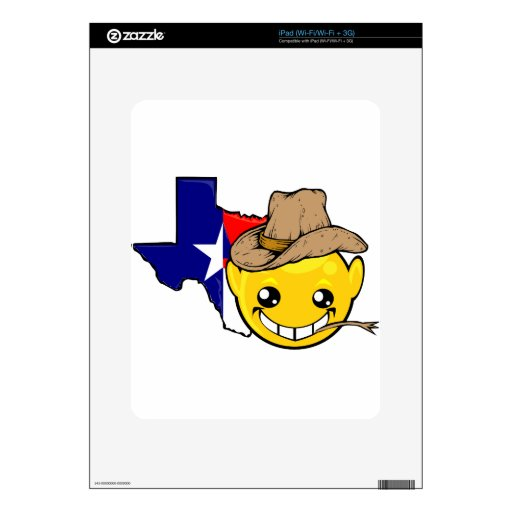 texas state smiley face skins for the iPad