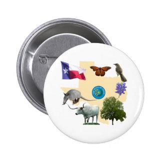 Texas State Symbols Button