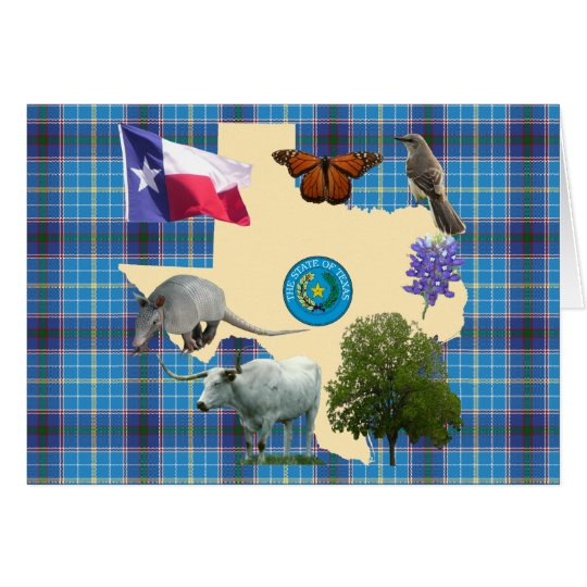 Texas State Symbols Card