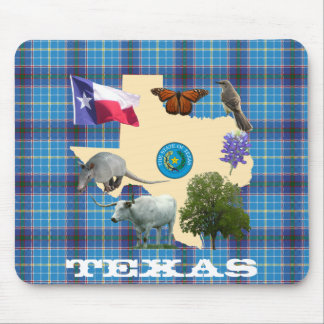 Texas State Symbols Mouse Pad