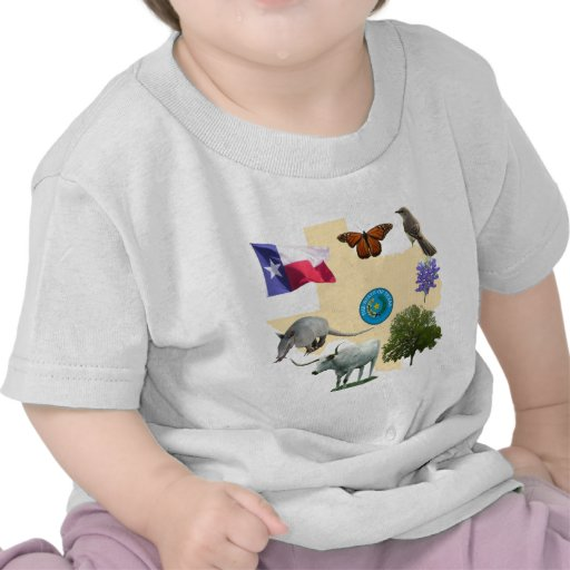 Texas State Symbols Tee Shirt