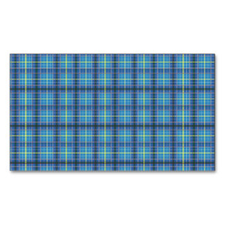 Texas State Tartan Magnetic Business Card