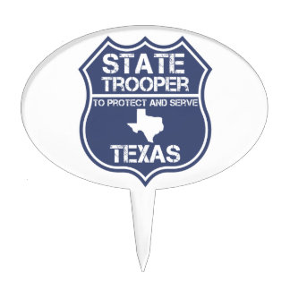 Texas State Trooper To Protect And Serve Cake Topper