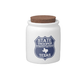 Texas State Trooper To Protect And Serve Candy Dishes