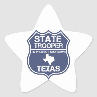 Texas State Trooper To Protect And Serve Star Sticker